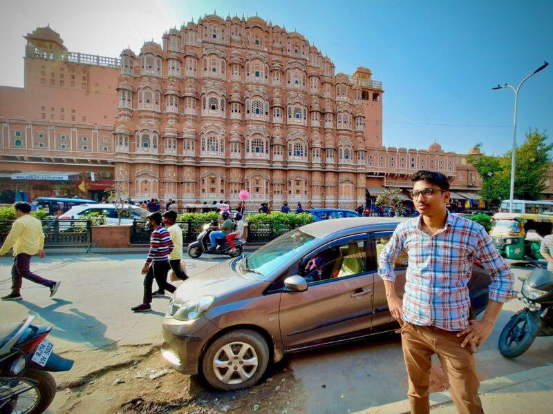 Karmendra Kumar in HawaMahal in Jaipur